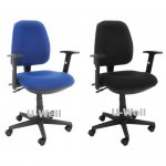 Multifunction mid back fabric office chair F201D-2 blue and black