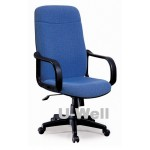 High back fabric office chair F2106 blue