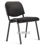 Fabric and four leg metal stacking chair S004 black