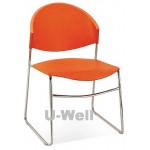 Plastic steel stackable chair S020 orange