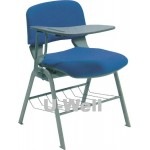 fabric plastic stackable chair with writing board S088