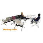 PU soft pad steel public waiting reception chair