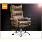 high back leather faced aluminum office chair, office furnitur seating Kaiki