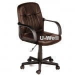 Hottest computer arms office staff swivel lift chair brown color L202B