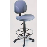 drafting swivel high stool fabric,blue