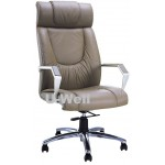 Fashion High back leather chair with aluminum arm