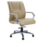 Mid back office leather chair