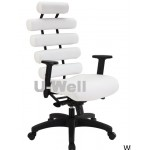 White pillow office chair high back multifucntion