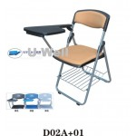 Folding chair with plastic tablet D02A-01