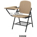 wood tablet metal structure folding chair face D08M