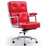 Big aluminum arm charles chair, Eames leather chair L085-1