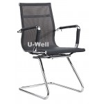 mesh metal sled conference chair