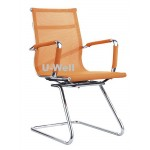 import China mesh metal sled visitor chair orange