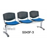 3seater guest waiting chair S043F-3