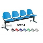 receiption 4seater public waiting chair S022-4