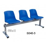 Simple cheap reception waiting chair S040-3