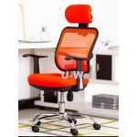 Promotion orange mesh chair with chrome steel base M1098H