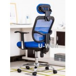 Promotion high back blue mesh swivel chair M1098H