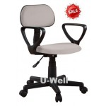 Hot arms computer desk swivel chair grey F001A