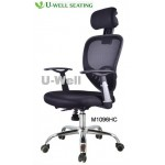 High-back office chair with chrome base M1096HC