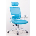 New mesh chair with white base M339