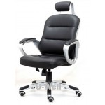 New black PU leather office chair L2010