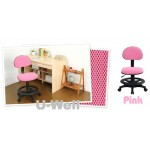 High footrest study chair for children pink color