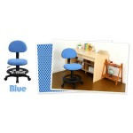 Blue mesh fabric student desk chair