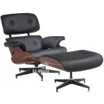 Eames chair with ottoman, Leisure chair,living room furniture Y107 black