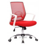 mesh chairs swivel chrome white structure red new