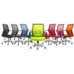 mid back mesh chair chrome base with more colors