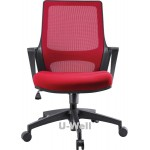 High quality mid back ergonomic mesh chairs red color