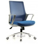 High quality Grey structure fabric mesh back seat back blue office chair