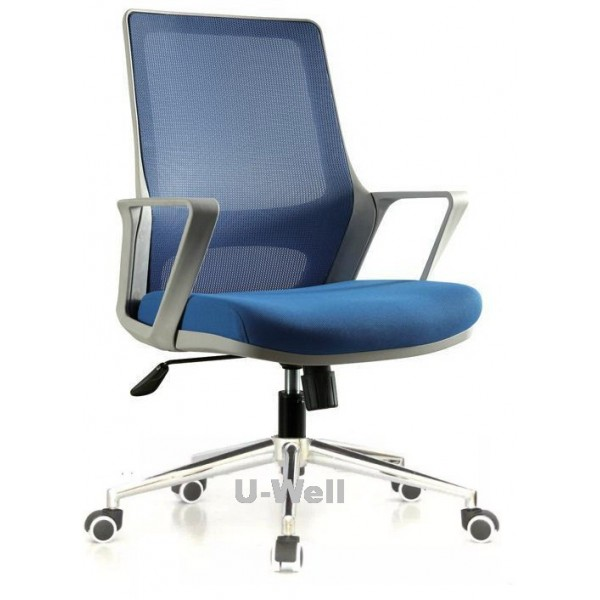 high quality grey structure fabric mesh back seat back blue office