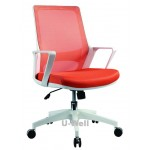 2015 new mid back computer swivel mesh chair white base