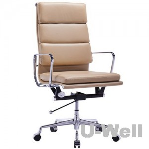 High Back Leather Executive Office Chair Beige China