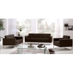 Brown Leather office florence knoll sofa U-Well