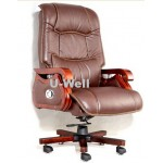 cow leather wood boss executive chair