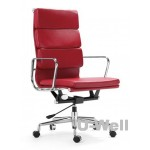 High Back Red Leather Executive Office Chair