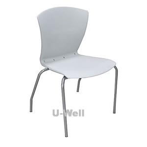 Plastic steel waiting chairs grey
