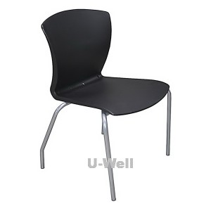 Plastic public furniture chair black S033