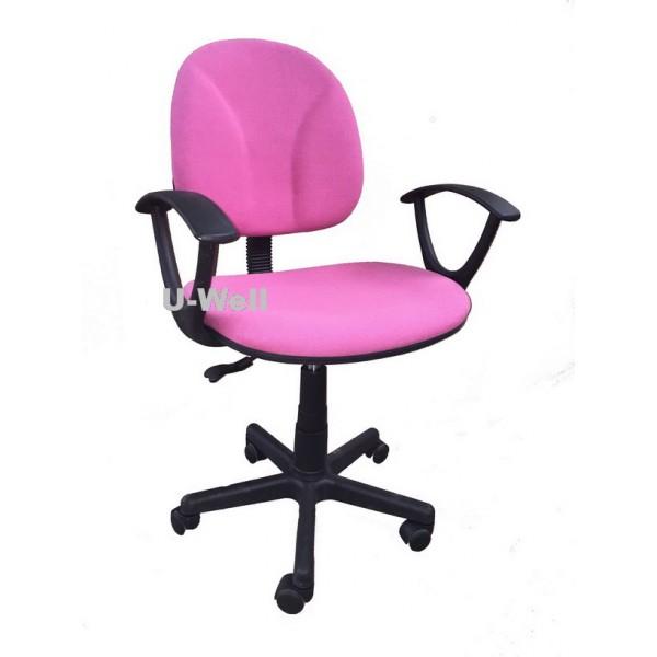 Pink Armrest Office Chair F008a