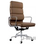 Terracotta-High-Back-Leather-Aluminum-Executive-Office-Chair