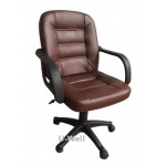 white Leather task chairs L208