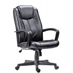 Black Leather Manager chair L222
