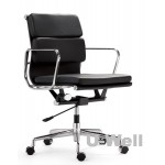 Middle Back black Leather Executive Office Chair