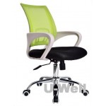 Latest white plastic green mesh office desk chair