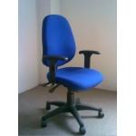 Multifunction Fabric Task Chair, BlueBlack T8109