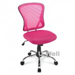 New Bright Mesh Mid-Back Chair pink, factory supplier M1108