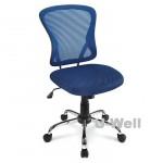 Bright Mesh Mid-Back Chair, Blueblack M1108